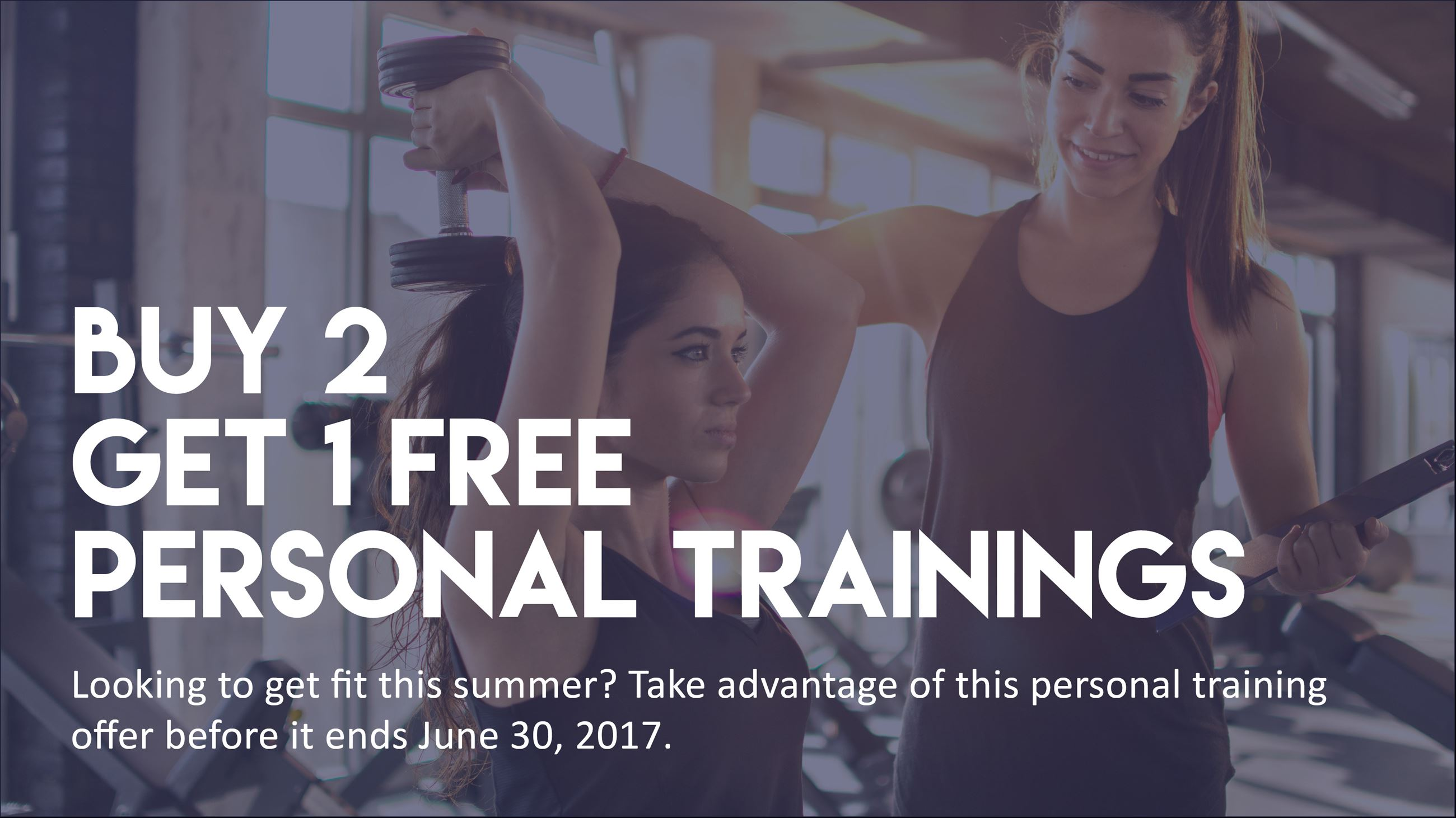 Personal Training Sale Slide