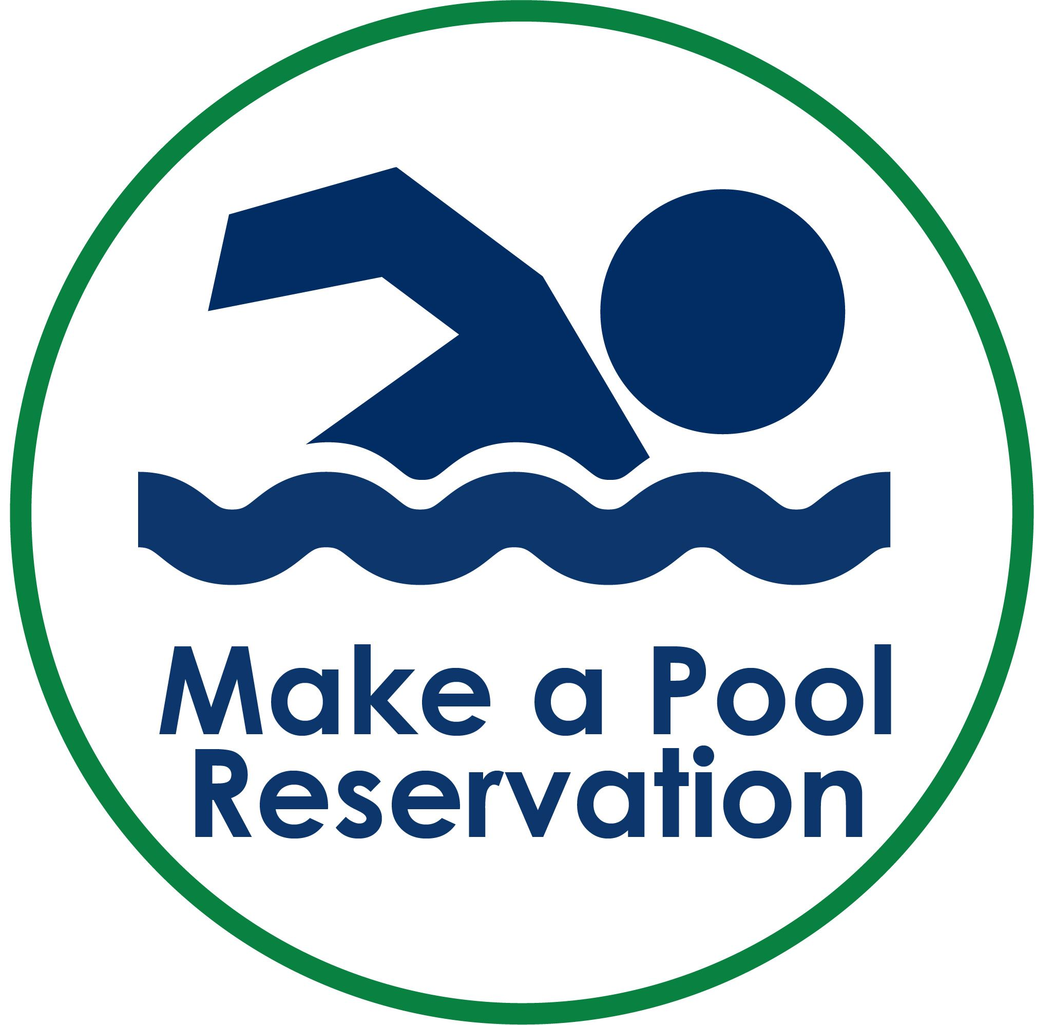 Make a Pool Reservation Icon with swimmer man icon